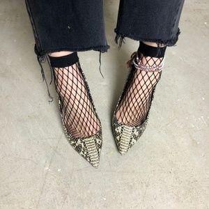 Black 3 Pair Fishnet Stretch Mesh Socks NWT